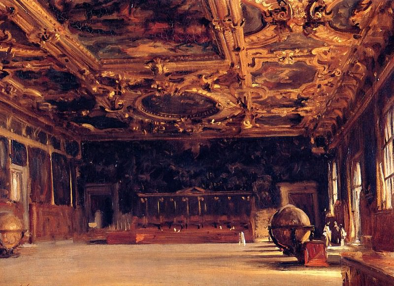 Interior of the Doges Palace. John Singer Sargent