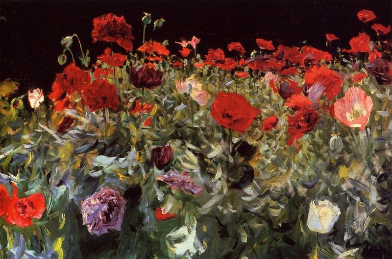 Poppies. John Singer Sargent