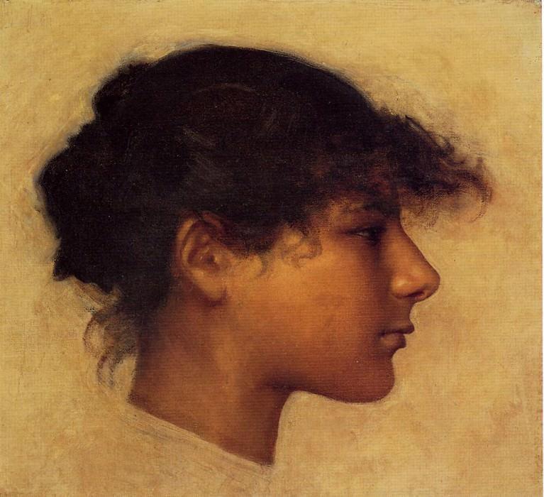 Head of Ana - Capri Girl. John Singer Sargent