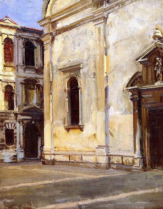 Santa Maria del Carmelo and Scuola Grande dei Carmini. John Singer Sargent