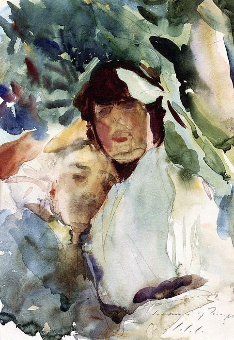 Ena Wertheimer with Antonio Mancini. John Singer Sargent