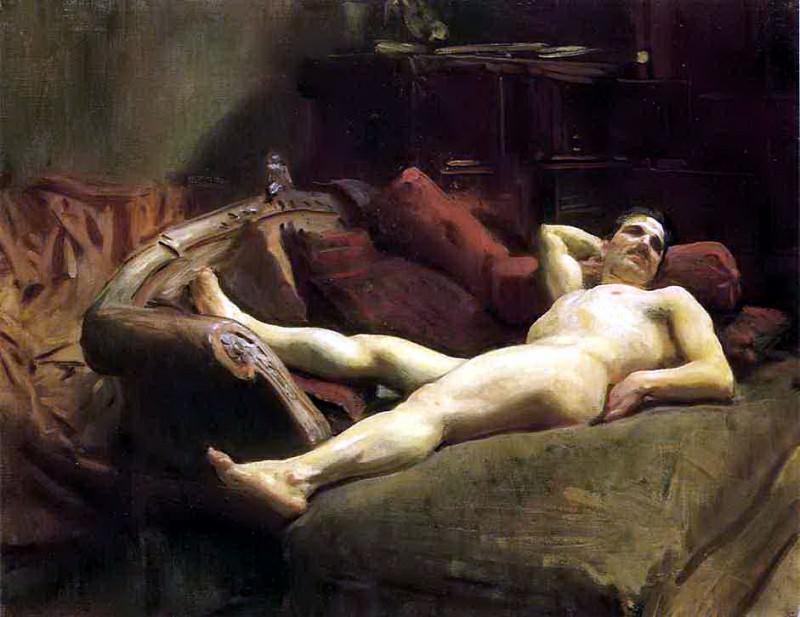 Male Model Resting. John Singer Sargent