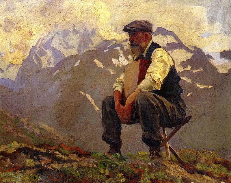 Reconnoitering. John Singer Sargent