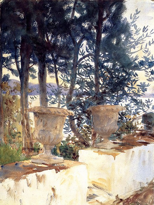 Corfu. The Terrace. John Singer Sargent