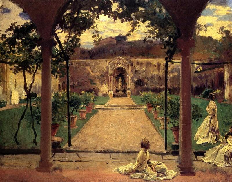 Ladies in a Garden. John Singer Sargent