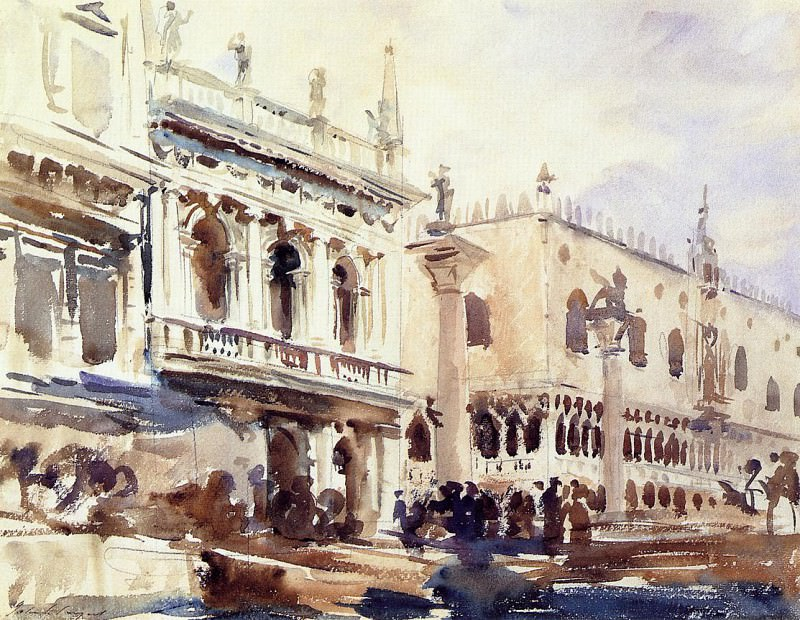 The Piazzetta and the Doges Palace. John Singer Sargent