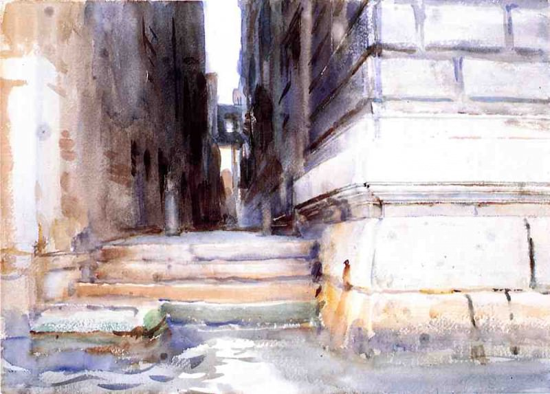 Base of a Palace. John Singer Sargent