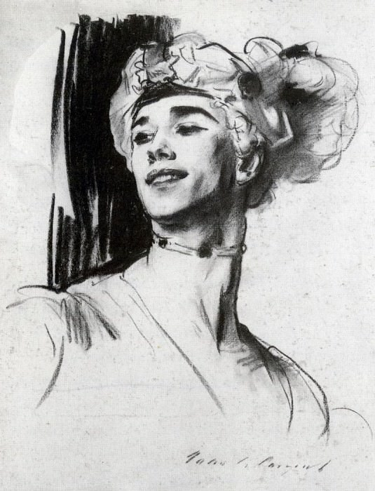 Вацлав Нижинский в балете «Павильон Армиды». Джон Сингер Сарджент
