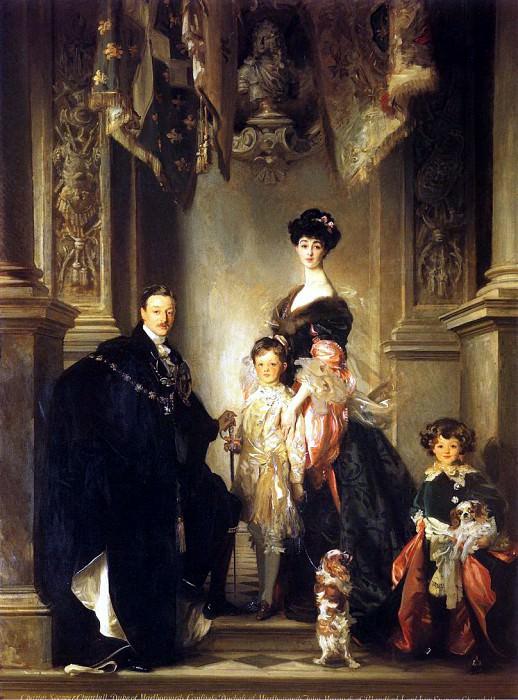 The Marlborough Family. John Singer Sargent