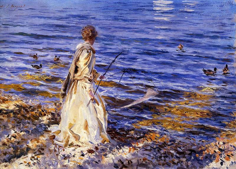 Girl Fishing. John Singer Sargent