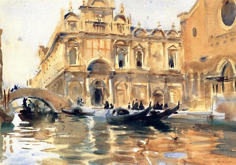 Rio dei Mendicanti. John Singer Sargent