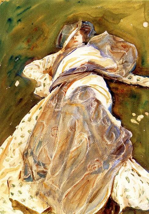 Woman Reclining. John Singer Sargent