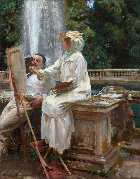 The Fountain, Villa Torlonia, Frascati, Italy. John Singer Sargent