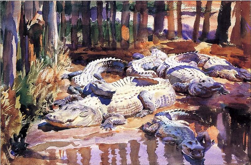 Muddy Alligators. John Singer Sargent