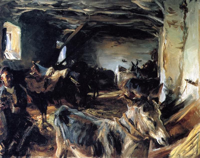 Stable at Cuenca. John Singer Sargent
