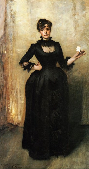 Louise Burckhardt (Lady with a Rose). John Singer Sargent