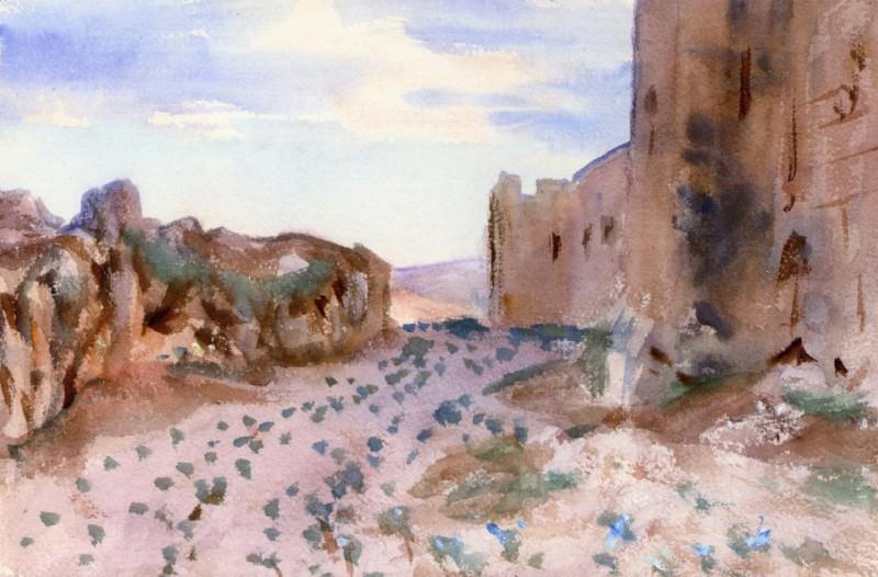 Крепость, дороги и скалы. Джон Сингер Сарджент