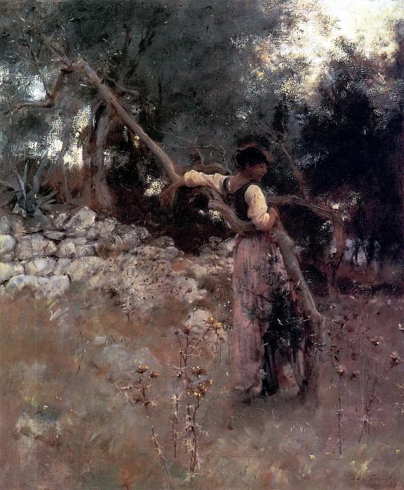 Каприотка или Девушка с Капри. Джон Сингер Сарджент