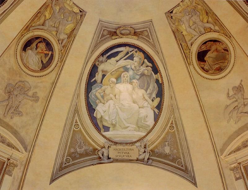 Архитектура, Живопись и Скульптура, защищённые Афиной от разрушительного воздействия Времени. Джон Сингер Сарджент