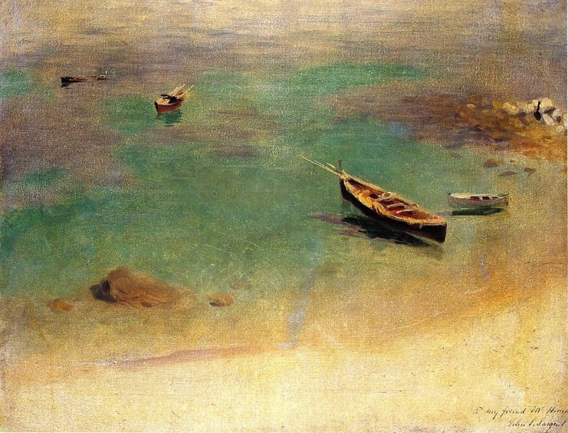 A Boat in the Waters off Capri. John Singer Sargent