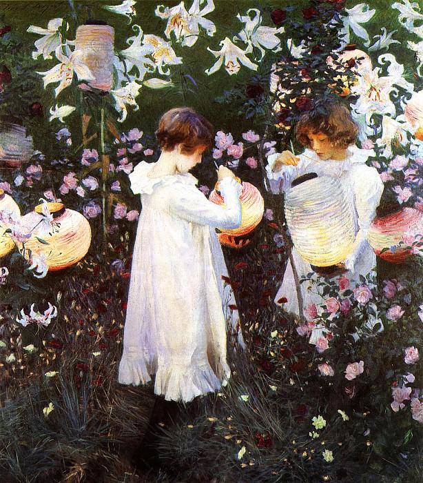 Carnation, Lily, Lily, Rose. John Singer Sargent