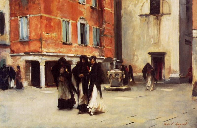 Leaving Church, Campo San Canciano, Venice. John Singer Sargent
