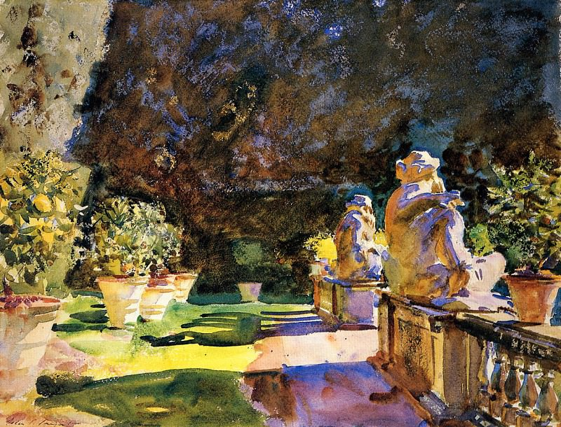 Villa di Marlia, Lucca. John Singer Sargent