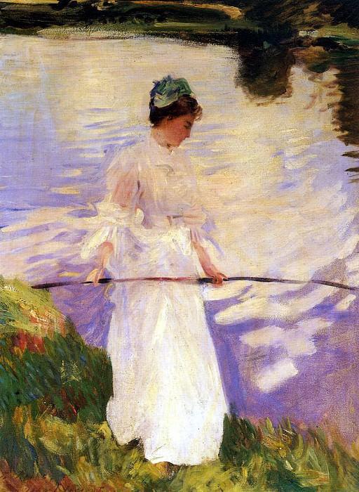 Violet Fishing. John Singer Sargent