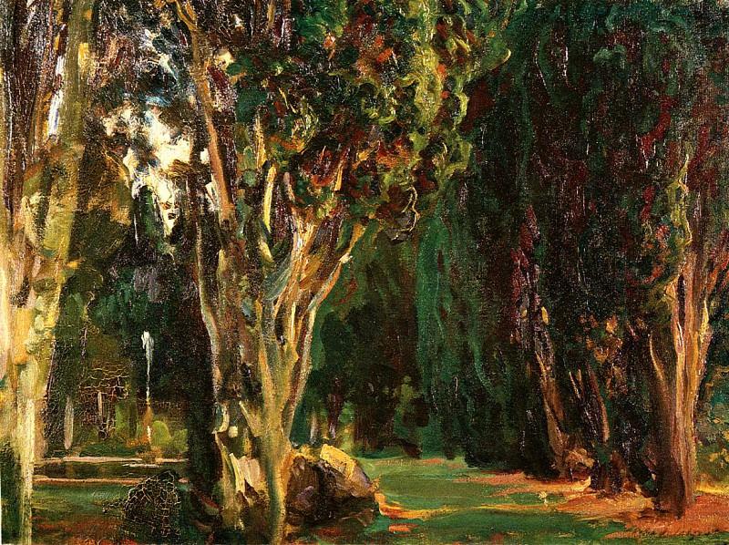 Falconieri Gardens, Frascati. John Singer Sargent