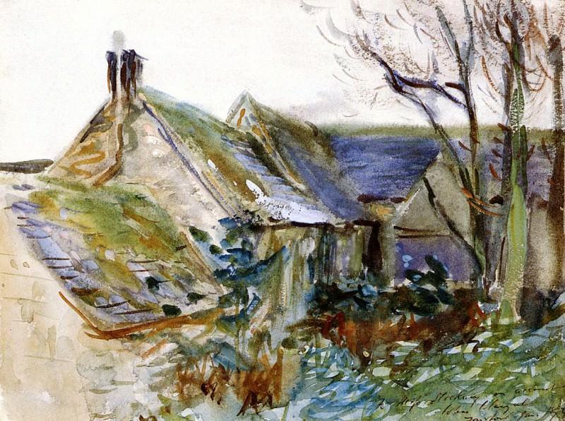 Cottage at Fairford, Gloucestershire. John Singer Sargent
