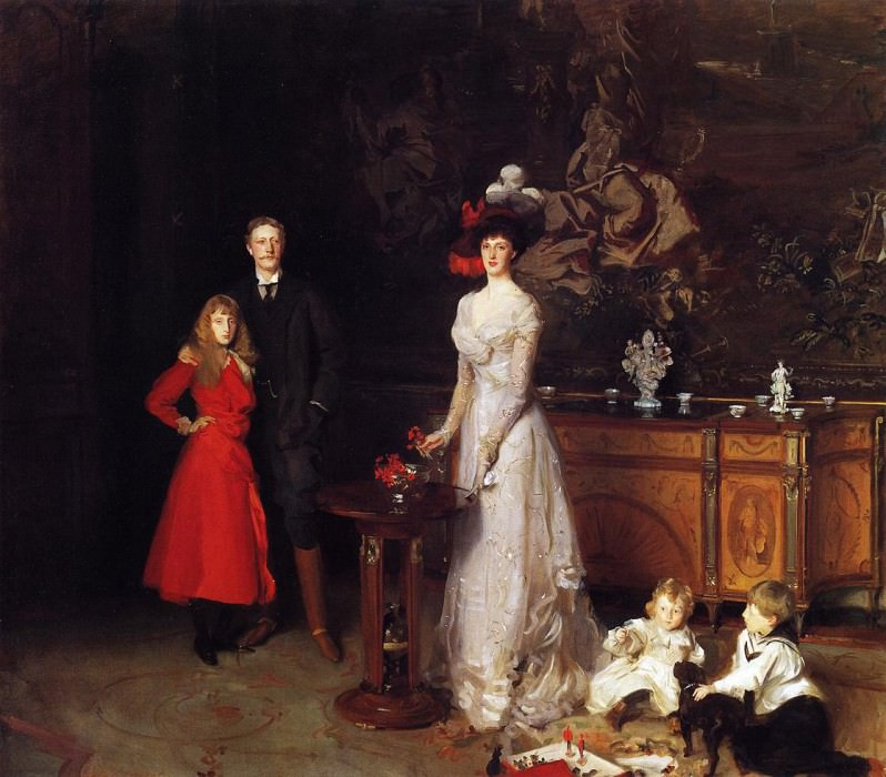 Sir George Sitwell, Lady Ida Sitwell and Family. John Singer Sargent