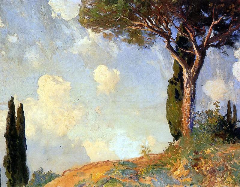 A Landscape Study at San Vigilio, Lake of Garda. John Singer Sargent