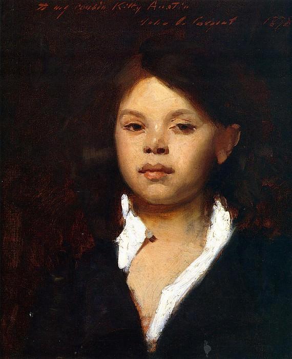 Head of an Italian Girl. John Singer Sargent