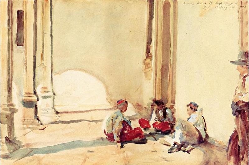 A Spanish Barracks. John Singer Sargent