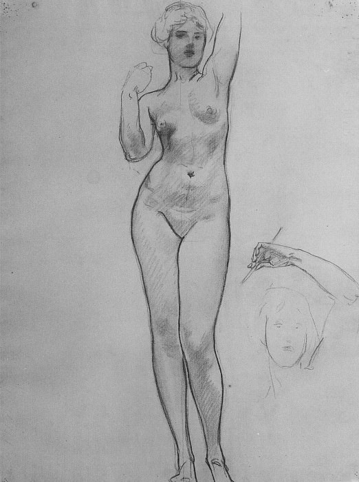 Studies of Aphrodite for Aphrodite and Eros. John Singer Sargent