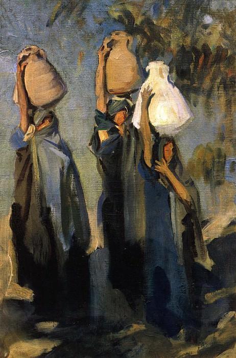 Bedouin Women Carrying Water Jars. John Singer Sargent