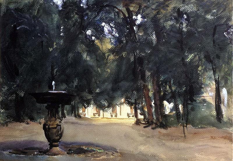 Villa Torlonia Fountain. John Singer Sargent