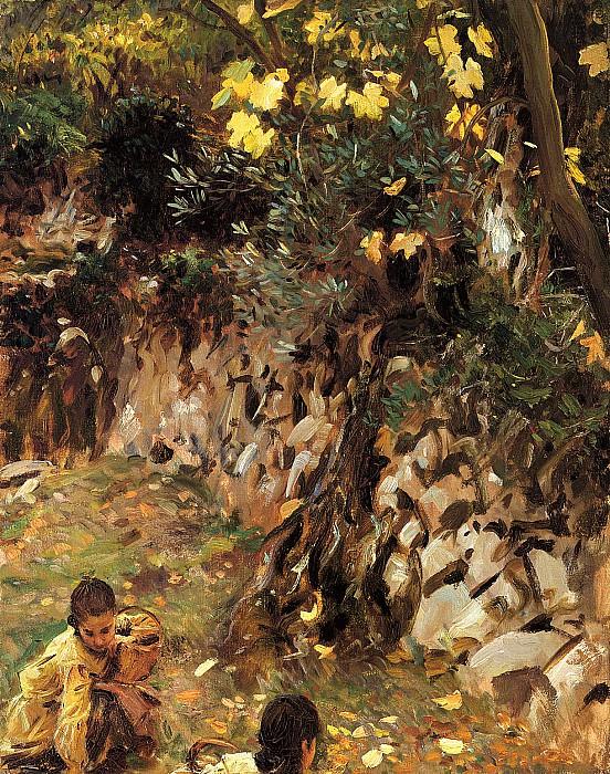 Собирание цветов, Вальдемоса. Джон Сингер Сарджент