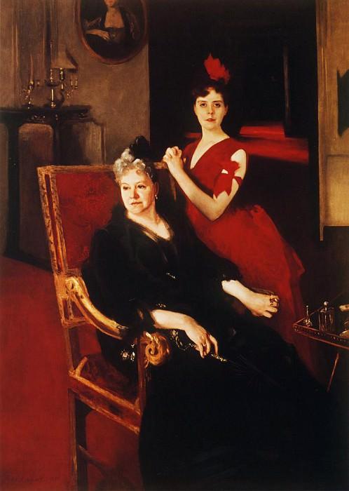 Mrs. Edward Burckhardt and her Daughter Louise. John Singer Sargent