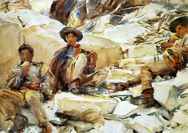 Carrara. Workmen. John Singer Sargent