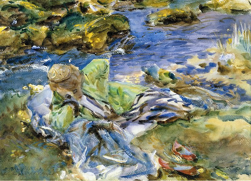 Turkish Woman by a Stream. John Singer Sargent