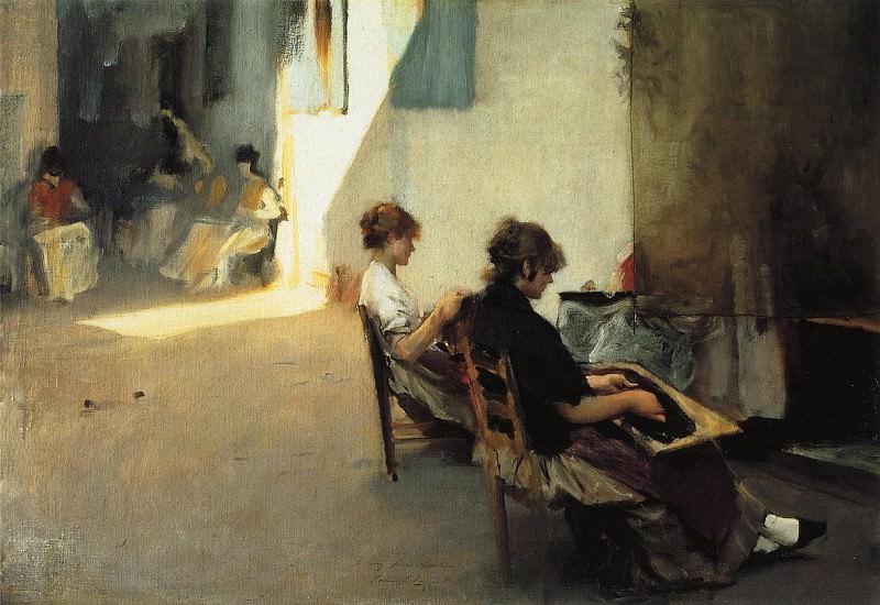 Venetian Bead Stringers. John Singer Sargent