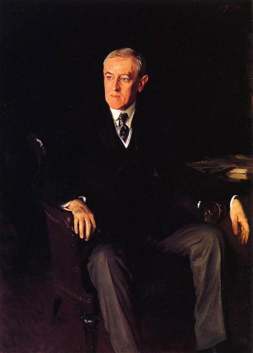 Президент США Вудро Вильсон. Джон Сингер Сарджент