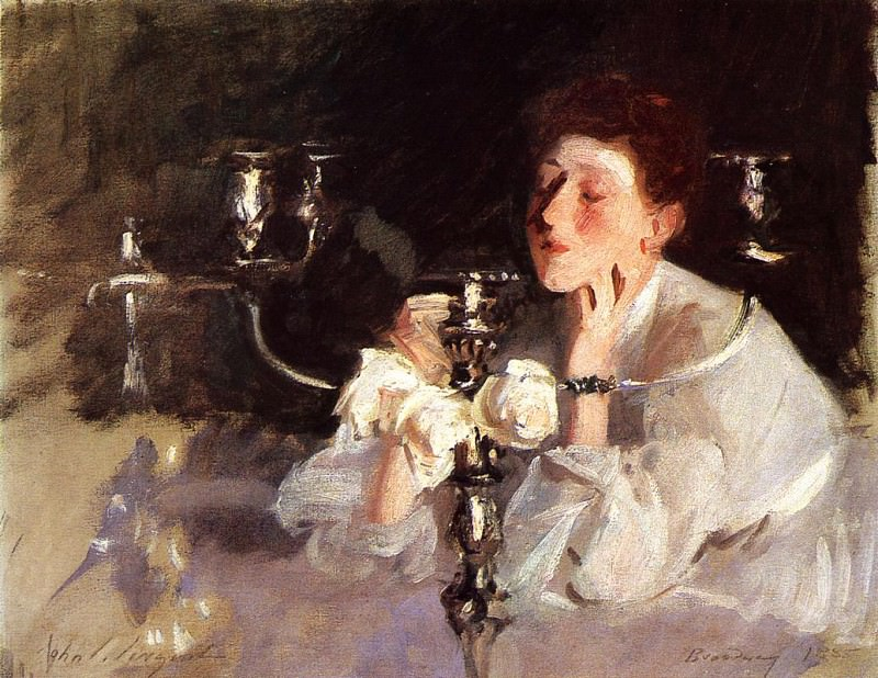 Lady with Cancelabra or The Cigarette. John Singer Sargent