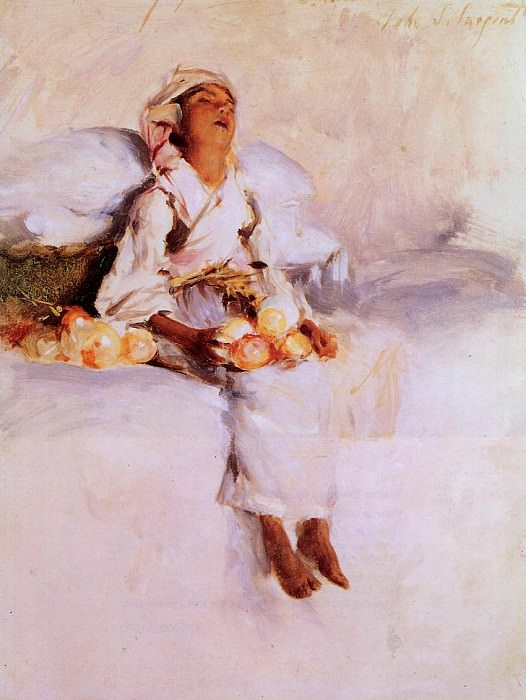 The Little Fruit Seller. John Singer Sargent