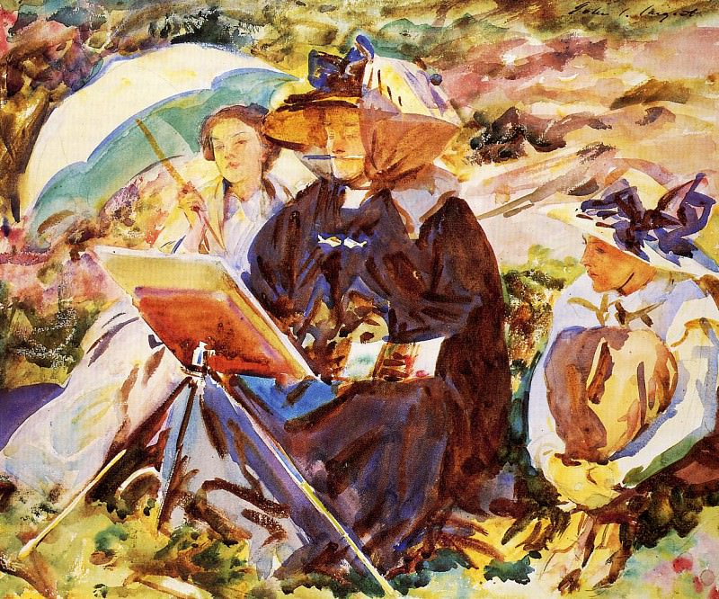 Simplon Pass. The Lesson. John Singer Sargent