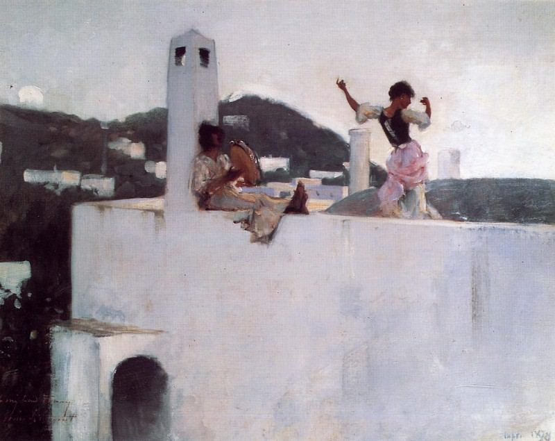Capri Girl on a Rooftop. John Singer Sargent