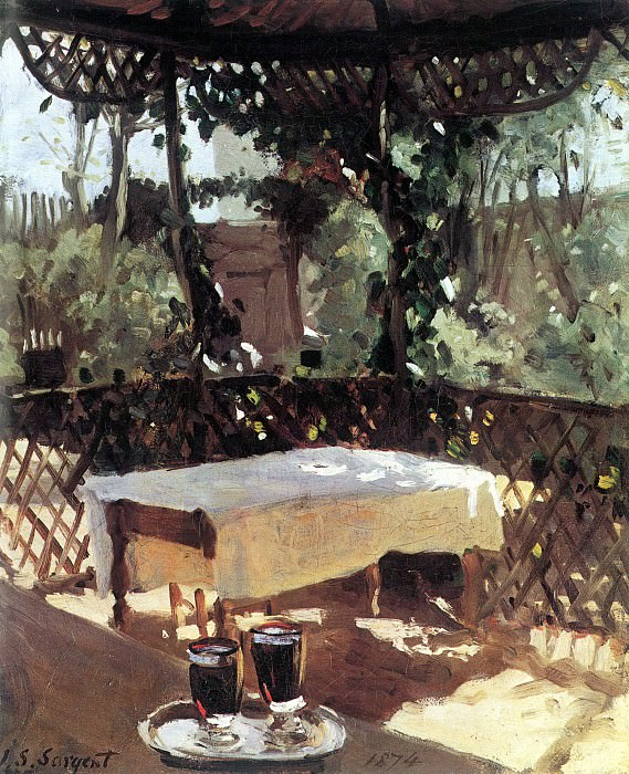 Zwei Weinglaser. John Singer Sargent