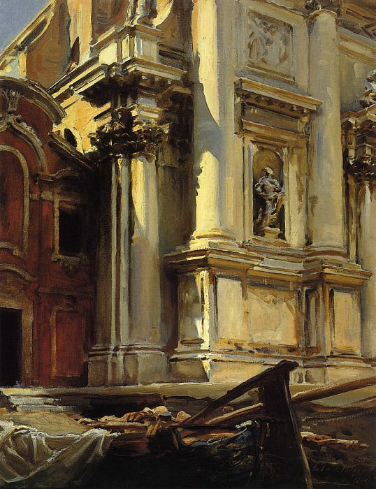 Corner of the Church of St. Stae, Venice. John Singer Sargent