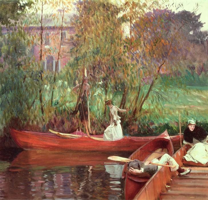 A Boating Party. John Singer Sargent